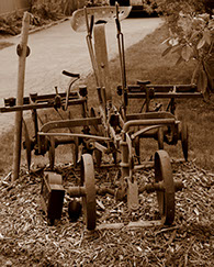 Farm equipment at Baxter Barn